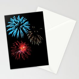 Patriotic Fireworks Stationery Cards