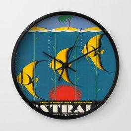 Vintage poster - Australia Wall Clock