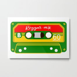 REGGAE MIX TAPE Metal Print