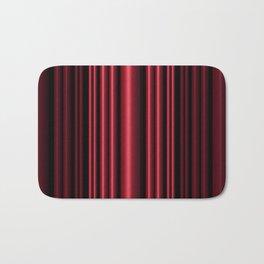 Red 3D Stripes Bath Mat