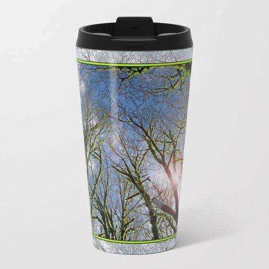 RAIN FOREST MAPLES REACHING FOR THE SKY Metal Travel Mug