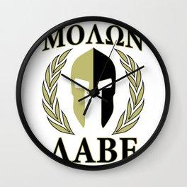 Molon labe olive laur Wall Clock