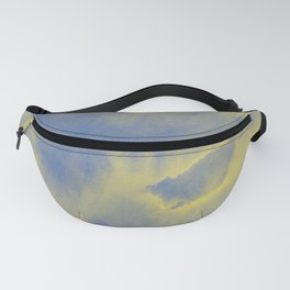 Watercolor texture - grey and yellow Fanny Pack