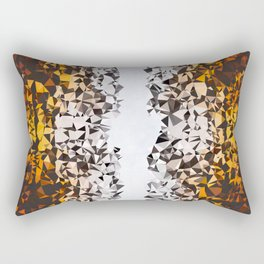 Fading Pieces Rectangular Pillow