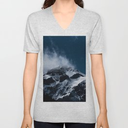 Crushing clouds #mountain #snow Unisex V-Neck