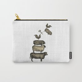Farm Living - Stacked Animals Carry-All Pouch