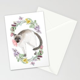 Pixie the Chocolate Siamese Cat Stationery Cards