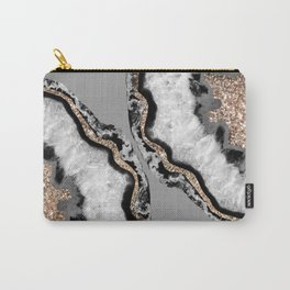 Yin Yang Agate Glitter Glam #12 #gem #decor #art #society6 Carry-All Pouch