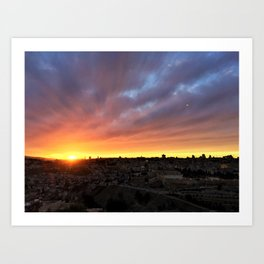 Jerusalem Sunset Art Print