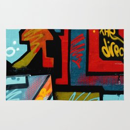 Color spray Graffiti Rug