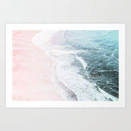Vintage Faded ocean waves Art Print