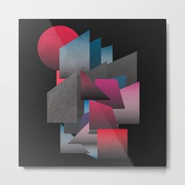 Colour Field Shapes Metal Print
