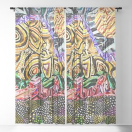 Opposites Attract Landscape Sheer Curtain