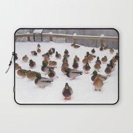 Winter  Ducks Laptop Sleeve