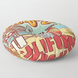 The Best Surfing – Santa Monica Beach Floor Pillow