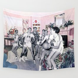 Mom Said No Basketball in the House Wall Tapestry
