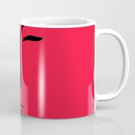 Red Portrait Minimal Art Coffee Mug