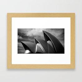 Sydney Opera House BW Framed Art Print