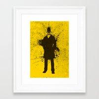 watchmen Framed Art Prints featuring WATCHMEN - RORSCHACH (YELLOW EDITION) by Zorio