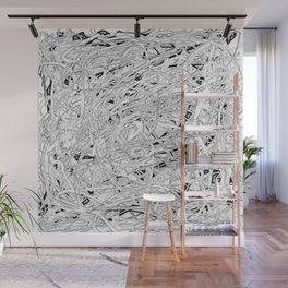 where I've been, in gray Wall Mural