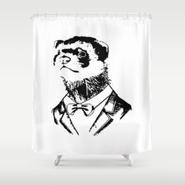 Fancy Ferret Shower Curtain