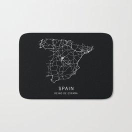 Spain Road Map Bath Mat