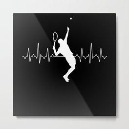 Tennis Heartbeat Metal Print