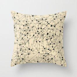 Stars sky map Throw Pillow