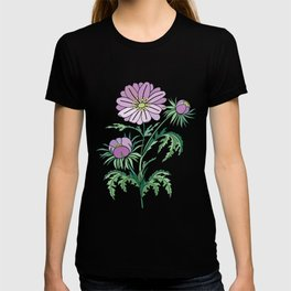 Abstract flowers branch T-shirt