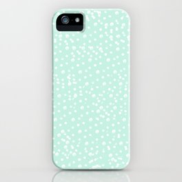 Dotted - Mint iPhone Case