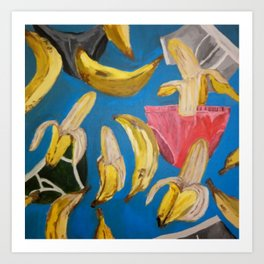 BANANAS AND BRIEFS Art Print