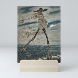 Satan Sowing Tares amid Seine & Paris - Satan sement l'ivraie by Félicien Rops Mini Art Print
