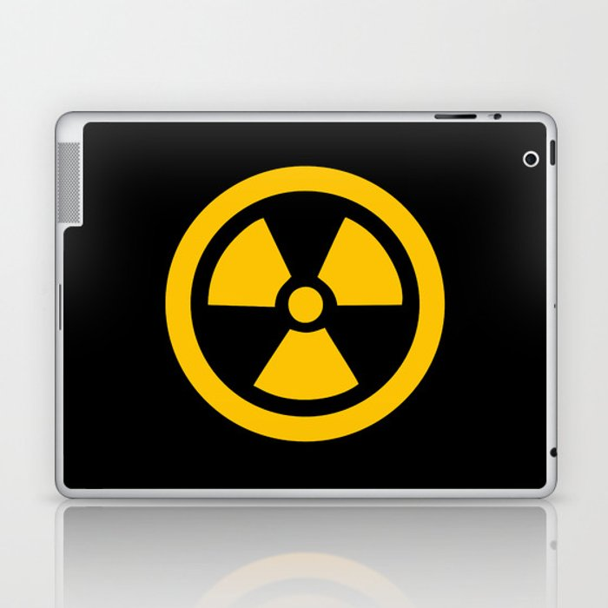 Yellow Radioactive Laptop & iPad Skin