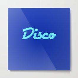 'Disco' Retro Font Metal Print
