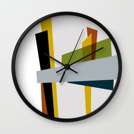 Mid Century Composition 3 Wall Clock
