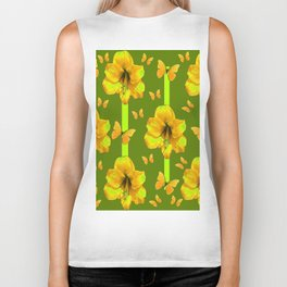 "GREEN AMARYLLIS ""FOR THE LOVE OF BUTTERFLIES"" Biker Tank"