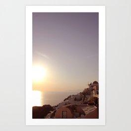 Sunset at Oia Art Print