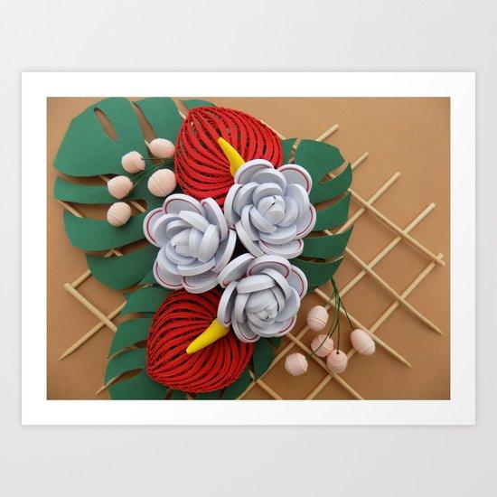Anthurium rose flowers paper quilling art print by wondercraftshop anthurium rose flowers paper quilling art print by wondercraftshop society6 mightylinksfo