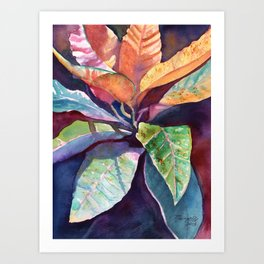 Colorful Tropical Leaves 3 Art Print