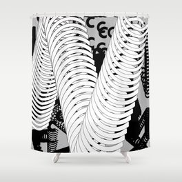 Type Composition. C Shower Curtain