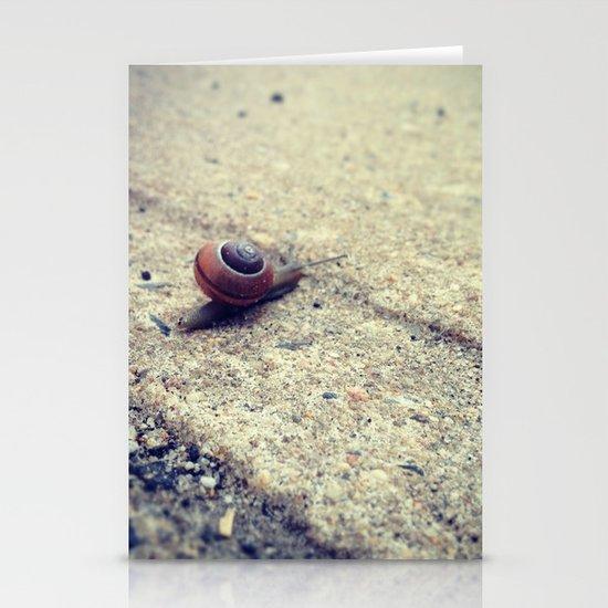 Snailing Around Stationery Cards