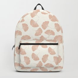 ginkgo leaves - blush Backpack