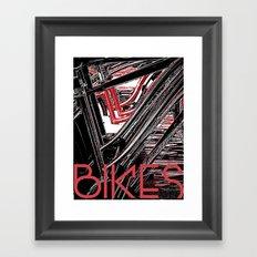 Bikes Poster (a) Framed Art Print