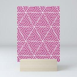Smitten - violet - Geometric Seamless Triangles Pattern Mini Art Print