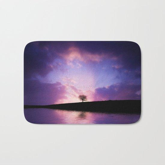 The sunset tree Bath Mat
