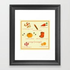 Colors: orange (Los colores: naranja) Framed Art Print