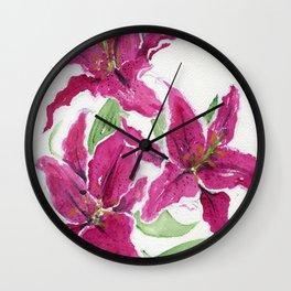 Sumatra Lilies Wall Clock