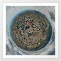 Summit of Mt. Kosciuszko, NSW. Art Print