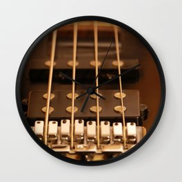 Four Strings Wall Clock