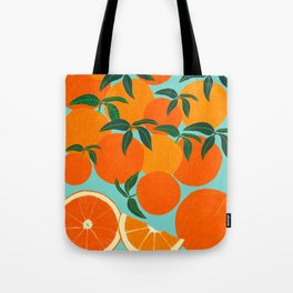 Orange Harvest - Blue Tote Bag